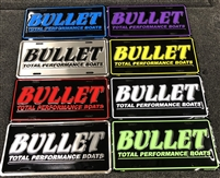 Bullet Embossed 3D Logo License Plate Truck Tag
