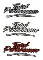 Total Performance Domed Decal with flare, used on step up area.