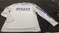 Bullet Logo Pro Style Tournament Jersey Silver with Blue Logos