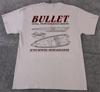 "Bullet Boats ""Often Imitated, Never Duplicated"" Graphic T-Shirt"