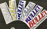 Small Rear Window Truck / SUV Bullet Logo Decal Sticker