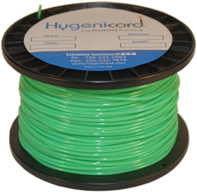 Cleanable Hygenicord Fluorescent Green - 250ft