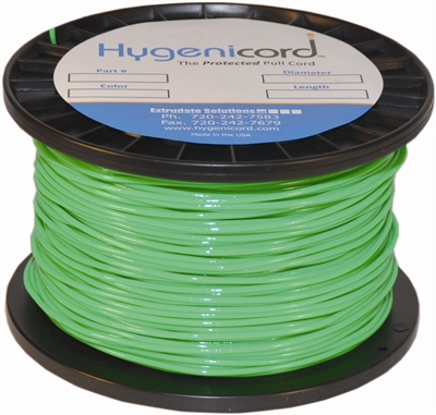 Cleanable Hygenicord Green/Glows Green-1000ft