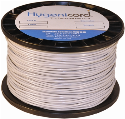 Cleanable Hygenicord Light Gray - 1000ft