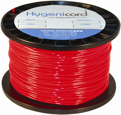 Cleanable Hygenicord Red - 250ft