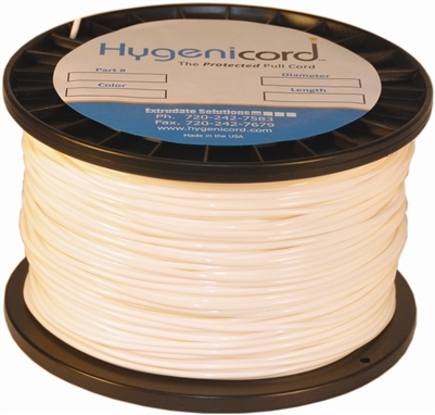 Cleanable Hygenicord White/Glows Green-2000ft