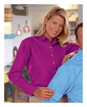 Blue Generation Ladies Long Sleeve Poplin Dress Shirt (BG6216)