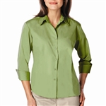 Blue Generation Ladies 3/4 Sleeve Poplin Dress Shirt (BG6260)