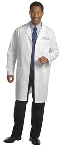 "Fashion Seal Men's 39"" Staff Length Lab Coat (FS490)"