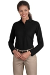 Port Authority® Ladies Long Sleeve Poly/Cotton Polo (L500LS)