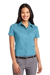 Port Authority® Ladies Easy Care Short Sleeve Shirt (L508-MG)