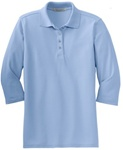 Port Authority® Ladies 3/4 Sleeve Poly/Cotton Polo (L562)