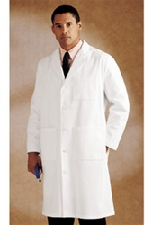 Landau Men's  Full Length Lab Coat (LAN3140-WWT)