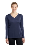 Sport-Tek Ladies Posicharge L/S V_Neck T-shirt (LST353LS)