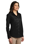 Port Authority® Ladies  Long Sleeve Carefree Poplin Dress Shirt ( LW100)