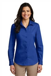 Port Authority® Ladies  Long Sleeve Carefree Poplin Dress Shirt ( LW100-MG)
