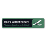 Aviation Service Sign, Personalized Pilot Name Sign, Metal Airplane Sign, Custom Aviation Decor, Plane Sign