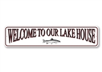 Lake House Sign, Welcome Sign, Welcome To The Lake House Fish Sign, Fish Sign, Lake House Decor, Fish Decor