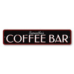 Coffee Bar Sign, Personalized Name Kitchen Sign, Coffee Lover Sign, Custom Home Coffee Decor, Coffee Sign