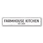 Farmhouse Kitchen Sign, Personalized Established Date Sign, Custom Kitchen Chef Sign, Country Kitchen Decor