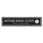 Artisan Baked Goods Sign, Personalized 5 Cents Family Name Sign, Family Kitchen Sign, Custom Kitchen Decor