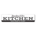 Home Cookin' At Its Best Sign, Personalized Name Kitchen Sign, Custom Chef Cook Sign, Metal Kitchen Decor