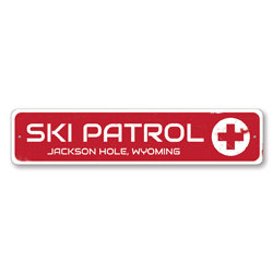 Ski Patrol Sign, Personalized Skiing Destination Sign, Custom Ski Red Cross City State Sign, Ski Lover Gift