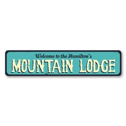 Welcome Mountain Lodge Sign, Personalized Ski Family Name Sign, Custom Ski Lodge Decor, Metal Ski Lover Sign