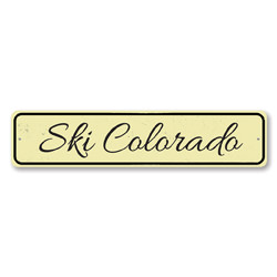 Ski Location Sign, Personalized Ski Lodge Sign, Metal Skiing Location Sign, Custom Skiing Destination Decor