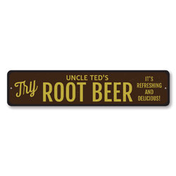 Try Root Beer Sign, Personalized Refreshing & Delicious Brewer Name Sign, Custom Pop Soda Lover Kitchen Decor