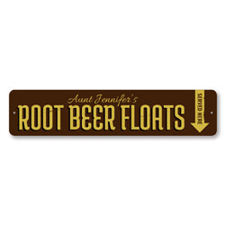 Root Beer Floats Sign, Custom Served Here Ice Cream Maker Name Sign, Personalized Sweet Treats Kitchen Decor