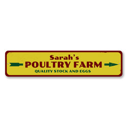Poultry Farm Sign, Personalized Farmer Name Sign, Quality Stock & Eggs Arrow Kitchen Sign, Custom Farm Decor