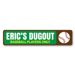 Baseball Dugout Sign, Personalized Kid Name Baseball Players Only Sign, Baseball Lover Sign, Playroom Decor