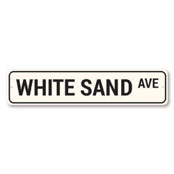 White Sand Ave Sign, Beach Street Sign, Ocean Lover Gift, Beach House Decor, Metal Sea Home Decorations