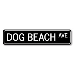 Dog Beach Ave Sign, Beach Street Sign, Ocean Lover Gift, Beach House Decor, Metal Sea Home Decorations