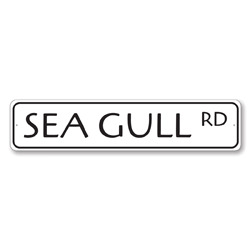 Sea Gull Rd Sign, Beach Street Sign, Ocean Lover Gift, Beach House Decor, Metal Sea Home Decoration