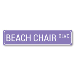 Beach Chair Blvd Sign, Beach Street Sign, Ocean Lover Gift, Beach House Decor, Metal Sea Home Decor