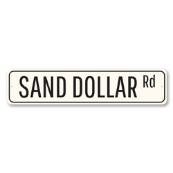 Sand Dollar Rd Sign, Beach Street Sign, Ocean Lover Gift, Beach House Decor, Metal Sea Home Decoration