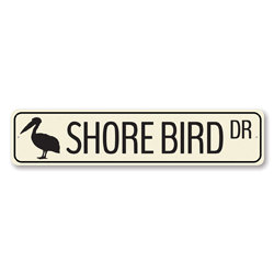 Shore Bird Dr Sign, Ocean Animal Drive Sign, Metal Beach Street Sign, Sea Lover Beach House Decor