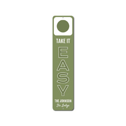 Take It Easy Vertical Sign, Custom Ski Hill Difficulty Circle Sign, Personalized Family Name Ski Lodge Decor