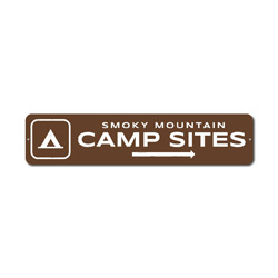 Camp Sites Arrow Sign, Personalized Camping Location Name Gift, Smoky Mountain Tent Park Recreation Decor