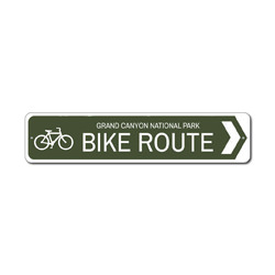 Bike Route Sign, Custom Bicycle Arrow National Park Location Name Gift, Personalized Park Recreation Decor