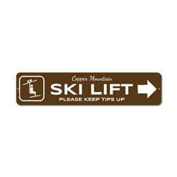 Ski Lift Arrow Sign, Custom Skier Tips Up Mountain Location Name Gift, Personalized Park Recreation Decor
