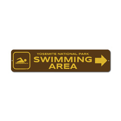 Swimming Area Sign, Custom Swimmer Arrow Swim National Park Name Gift, Personalized Park Recreation Decor