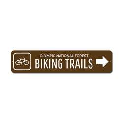 Biking Trails Sign, Custom Bicycle Arrow Metal National Forest Name Gift, Personalized Park Recreation Decor