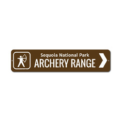 Archery Range Sign, Custom Arrow Bow Hunter National Park Name Gift, Personalized Park Recreation Metal Decor