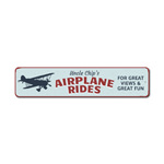 Airplane Rides Sign, Custom Pilot Name Gift, Personalized Aviation Lover Man Cave Decor, Metal Hangar Decor