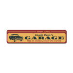 Expert Service Garage Sign, Personalized Car Owner Name Gift, Free Oil Changes Check-Ups & Advice Car Decor