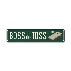 Boss Of The Toss Sign, Corn Hole Winner Gift, Bags Tournament Game Room Man Cave Decor