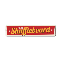 Play Shuffleboard Sign, Tournament Game Winner Gift, Family Game Room Man Cave Dorm Decor